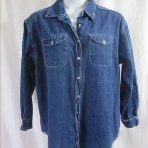Van Heusen for Her Denim Shirt Sz XL